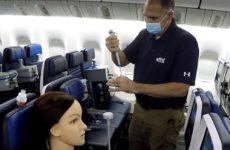 Риска заражения коронавирусом в самолёте практически не существует