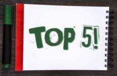 TOP5: главные события недели